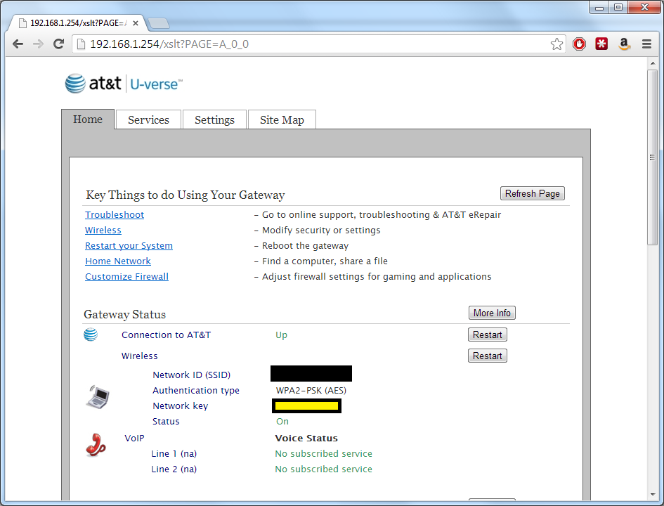 how to show password in adsl router